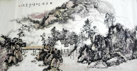 乡居图-崔泽民作品