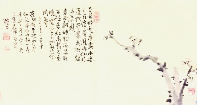 《写苏东坡·西江月·不与梨花同梦词意》
