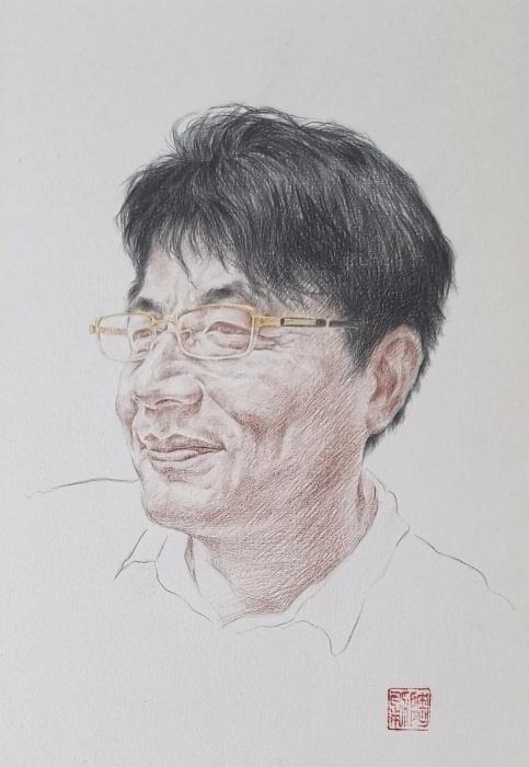 陶勇素描创作:夏日.同学~1