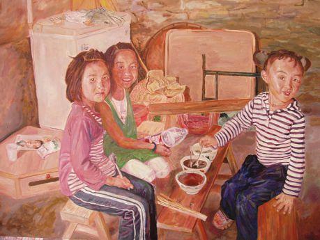三个小女孩