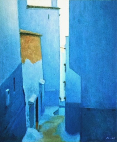 蓝色小镇深巷