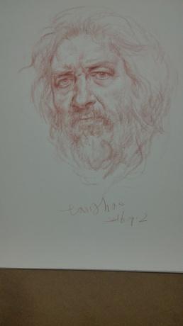 老人头像素描