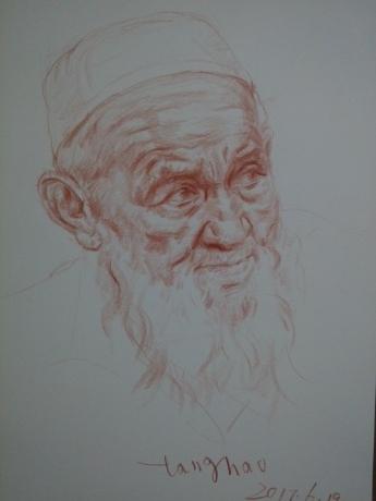 维吾尔族老人