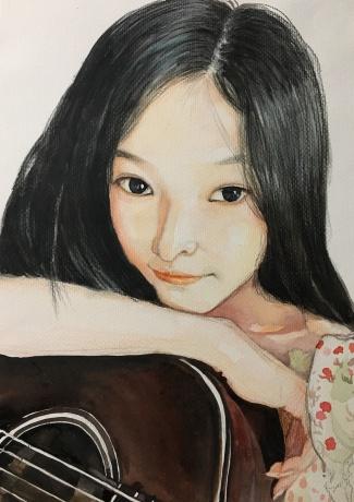 抱吉他的女孩