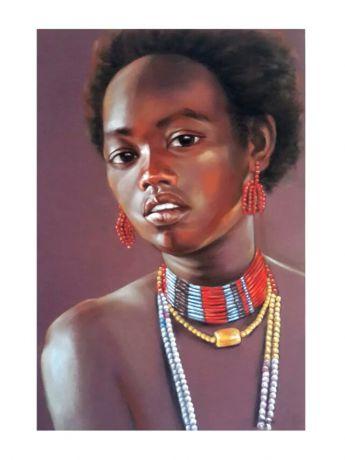 带珠链的黑美人