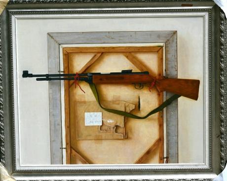 《汽抢》100x80cm油画2014年7月创作