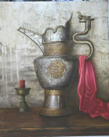 《藏壶》120x100cm油画2015年10月创作