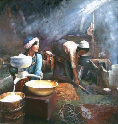 《奶油飘香》120x120cm油画2006年创作