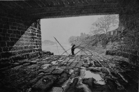 《成都府南河。安顺桥桥洞》