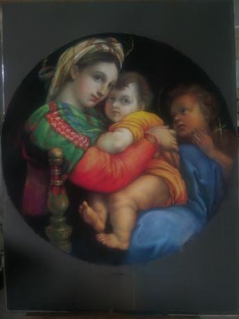 色粉《椅中圣母》