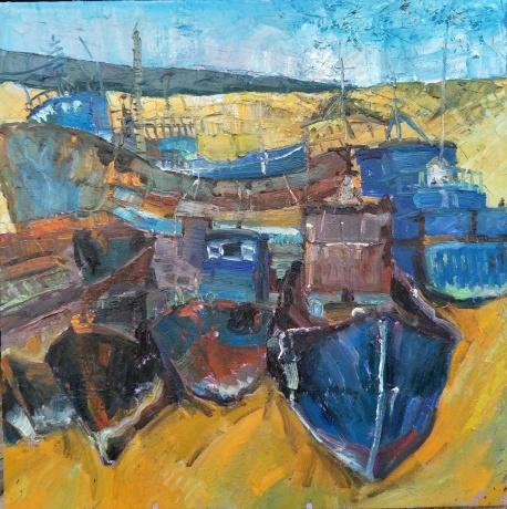 秋天的渔船