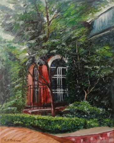 邻居老李家的门