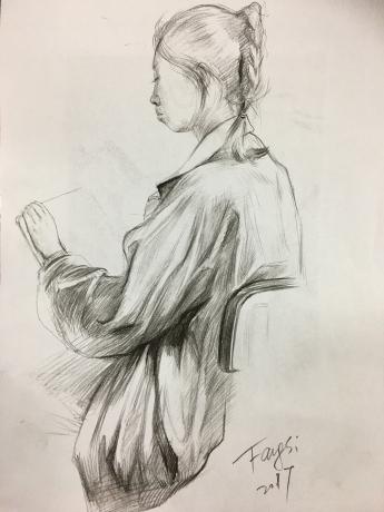 速写:鲜卓雅