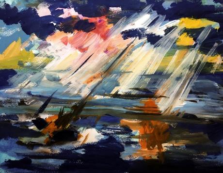 梦系列油画手稿留存《栖》