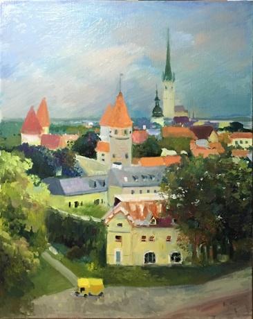 油画:风景