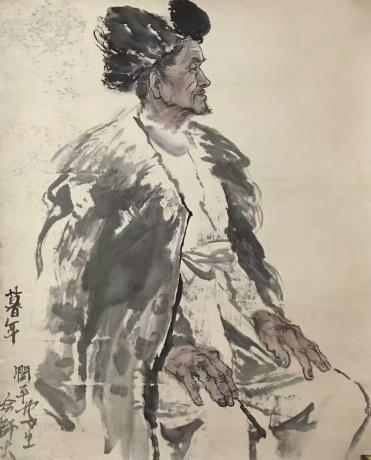 张润萍国画写生