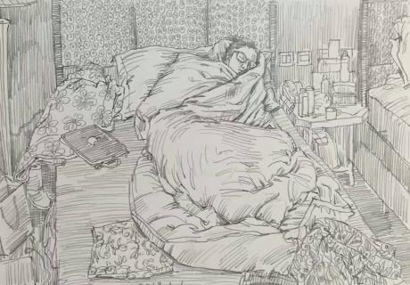 张润萍速写九幅