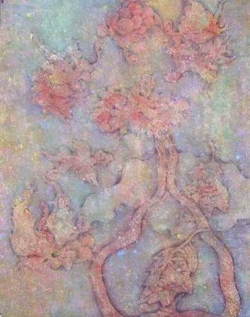 张润萍国画《善灵在舞》