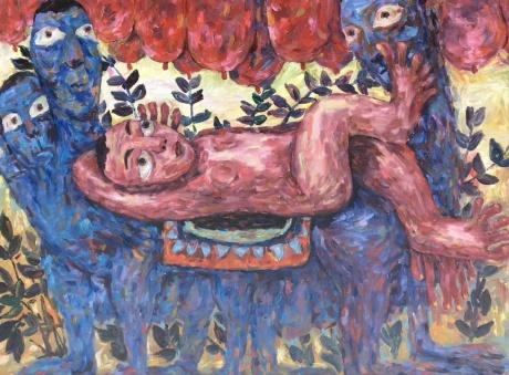 张润萍油画《所谓摇篮》