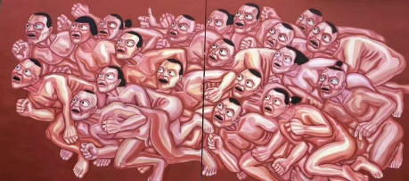 张润萍油画《冲》