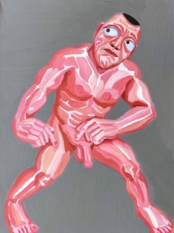 张润萍油画《劫掠者》