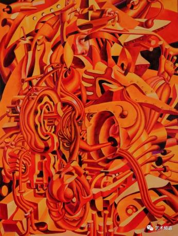 庞振勇油画《热烈的轮回》