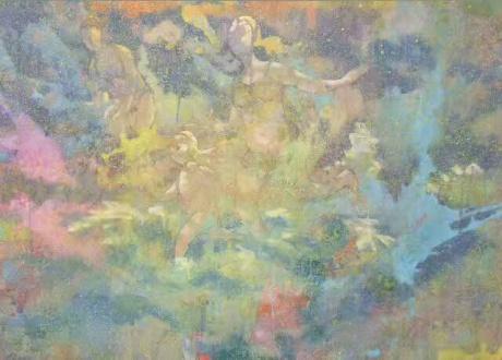 张润萍国画《海》