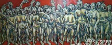 张润萍油画《完美的赞歌》