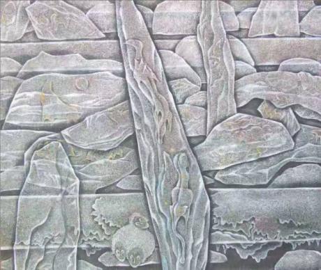 张润萍国画《冰川时代》