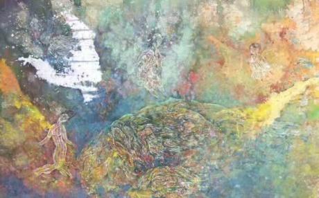 张润萍国画《羽之殇》