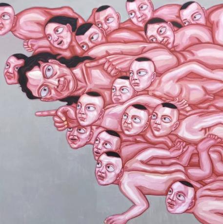 张润萍油画《上帝说》