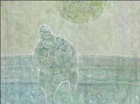张润萍国画《孕》