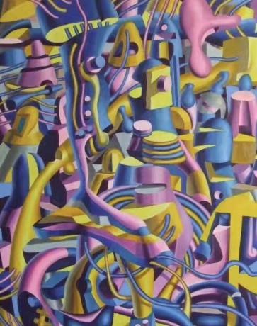 庞振勇油画《人生重构》