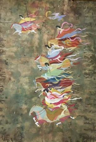 张润萍绢本国画