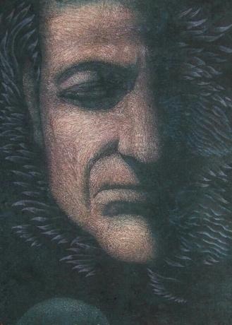 张润萍国画《2009年的面孔》