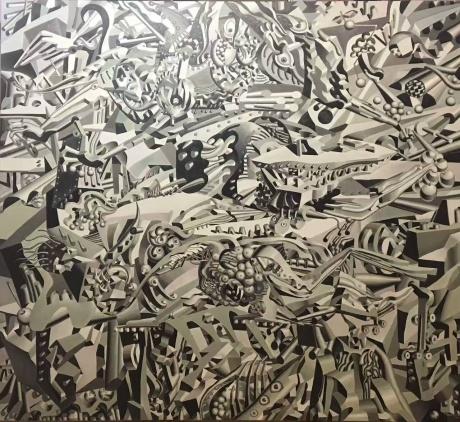 庞振勇油画《复活》