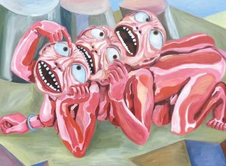 张润萍油画《脑洞》