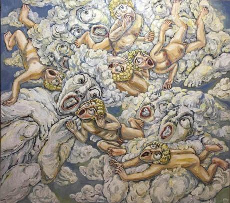 张润萍油画《主的容颜》