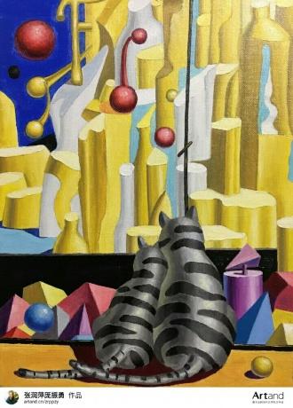 庞振勇油画《远方在远》