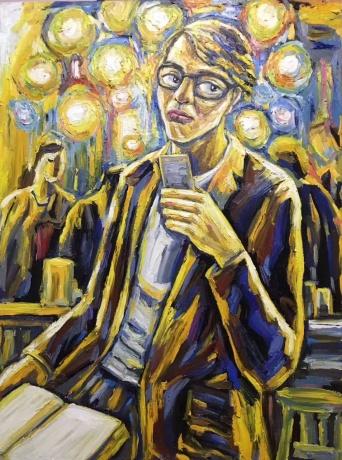 张润萍油画《肖像》