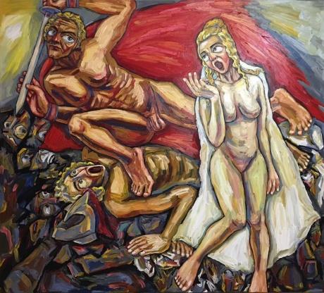 张润萍油画《安提戈涅之怨》