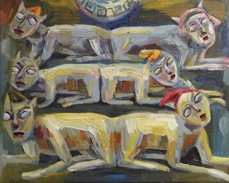 张润萍油画《复制山海经》