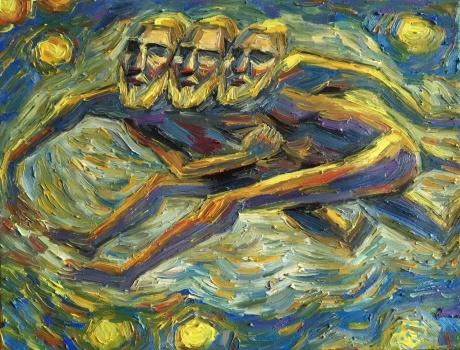 组画之六《长夜的背影》