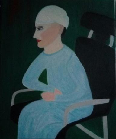 坐椅子的女人