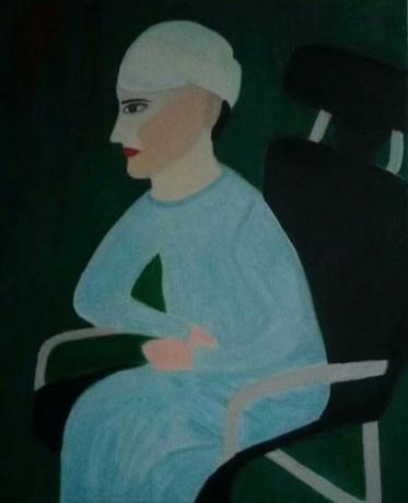 春拍《坐椅子的女人》