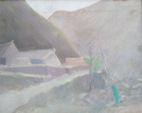 加碑岩的日出