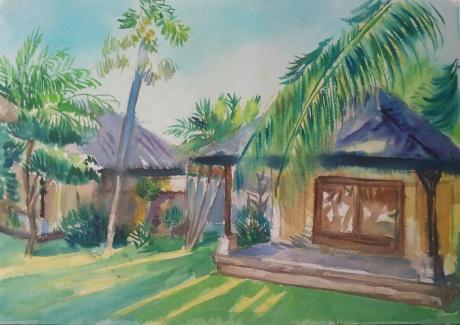 度假村风景建筑
