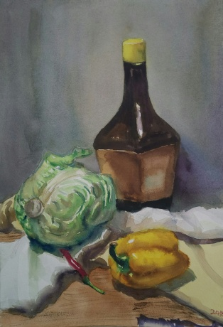 酱油瓶,大白菜