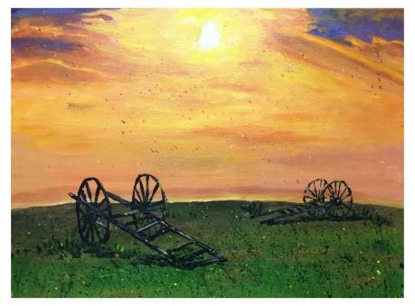 夕阳下的草原