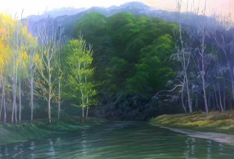 《三峡水乡九子溪》